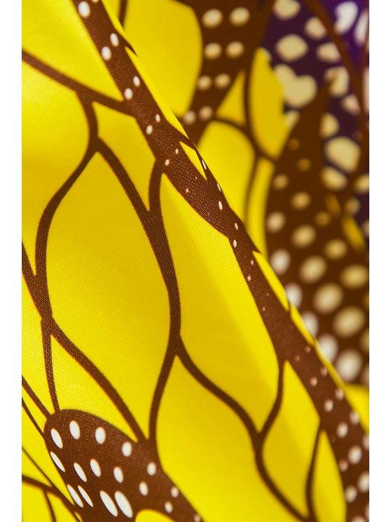 Retro Print Ball Gown Women's Skirt - GOLDEN S Mobile