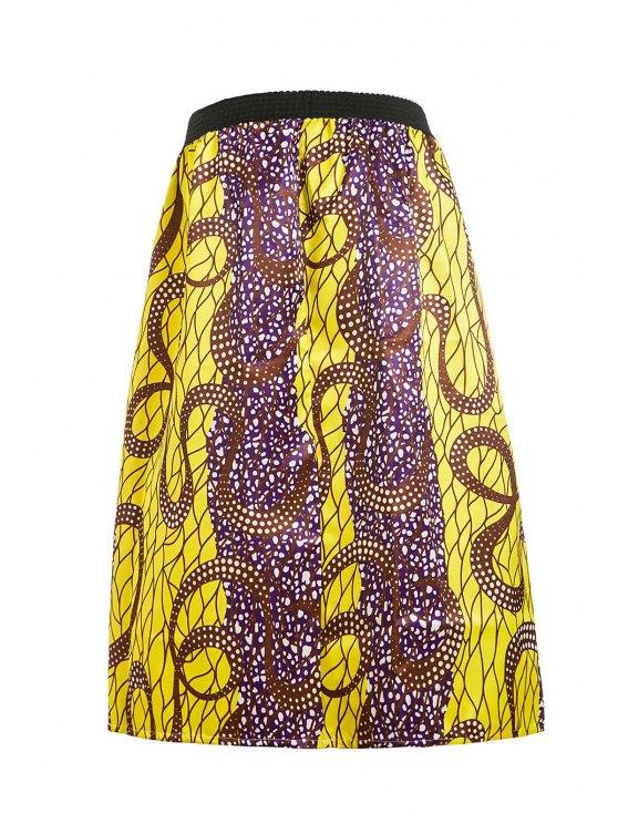 Retro Print Ball Gown Women's Skirt - GOLDEN M Mobile