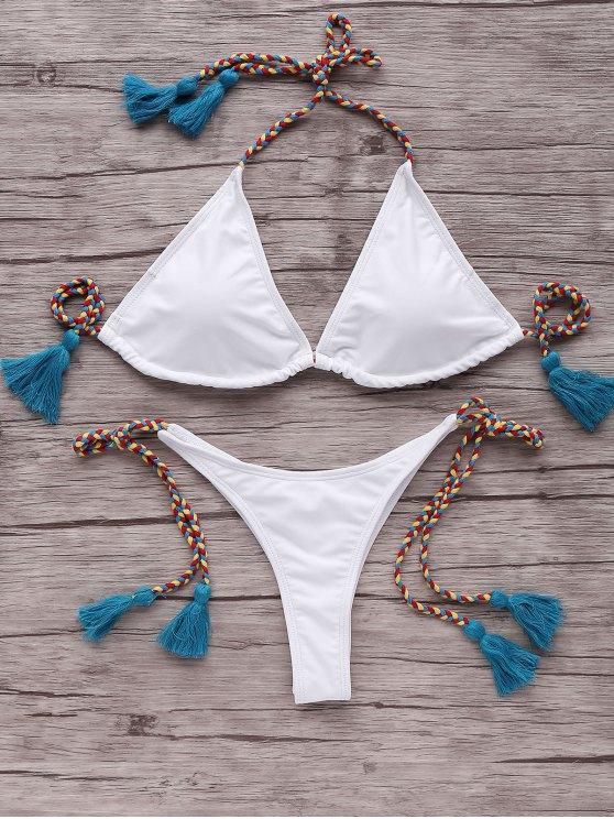 Tressé Strap Bikini - Bleu M
