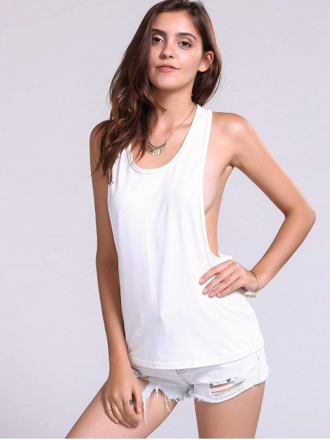 outfit Dropped Armhole Tank Top - WHITE L Mobile