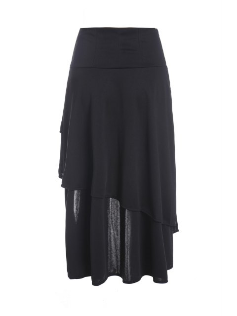 buy Gothic Lace-Up High-Waist A-Line Skirt - BLACK 2XL Mobile