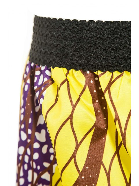 womens Retro Print Ball Gown Women's Skirt - GOLDEN M Mobile