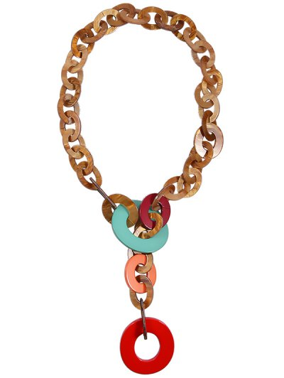 Round Link Chunky Statement Necklace For Women