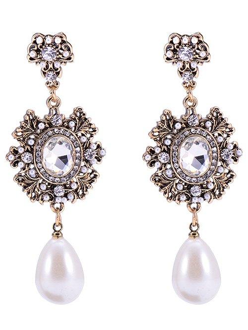Baroque Faux Pearl Dangle Earrings