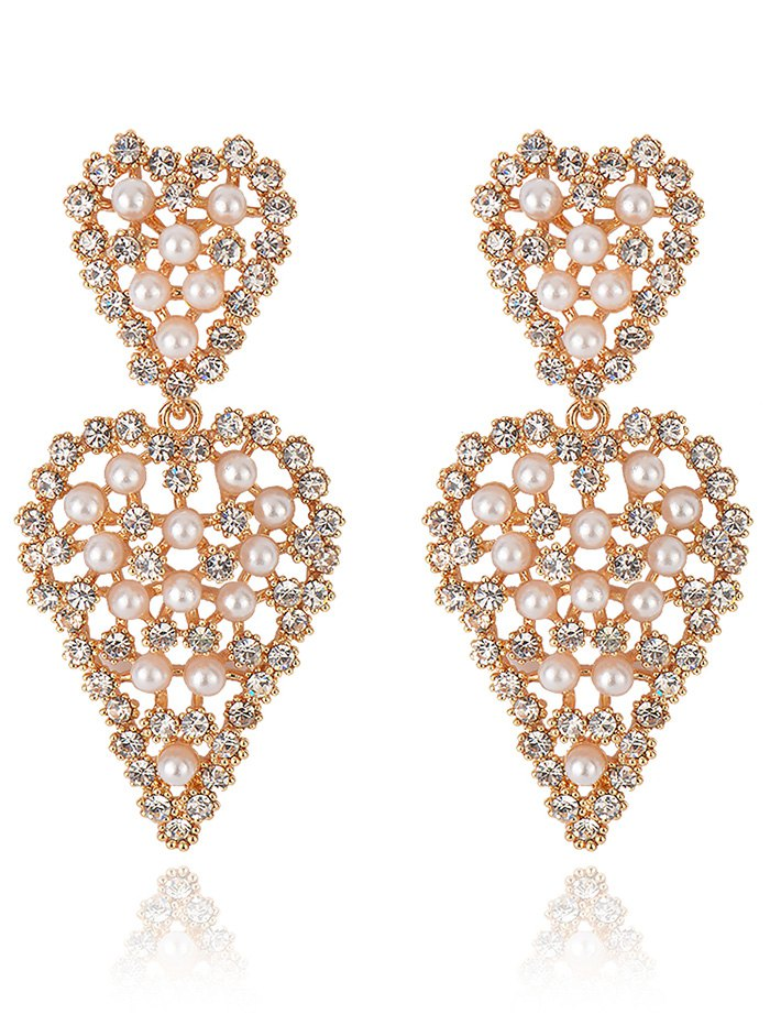 Sweetheart Rhinestone Dangle Earrings