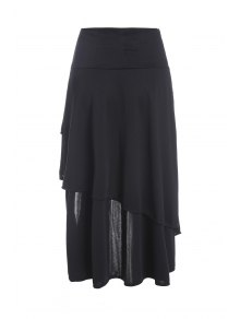 Gothic Lace-Up High-Waist A-Line Skirt