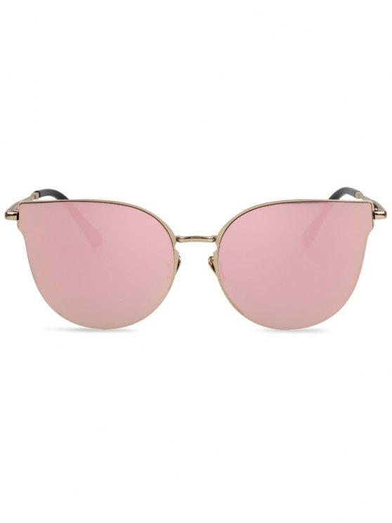 Street Fashion Golden-Rim Cat Eye Sunglasses - PINK  Mobile