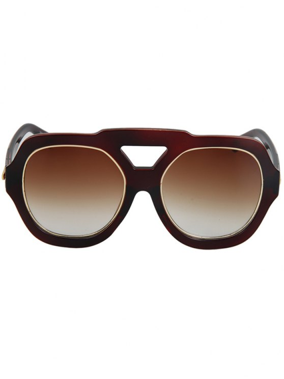 Arrow Double Rim Sunglasses - TEA-COLORED  Mobile