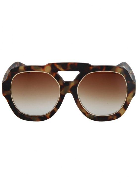 Arrow Double Rim Hazy Fleck Sunglasses - BROWN  Mobile