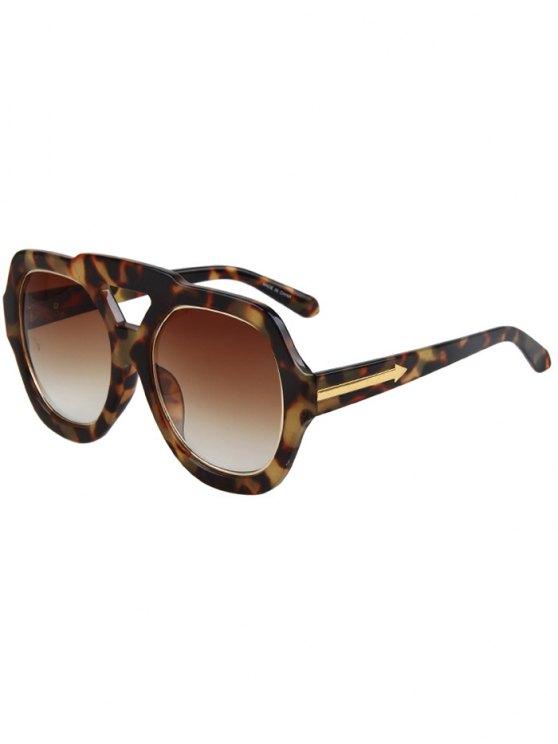 Flecha doble de la Costa del Hazy Fleck gafas de sol - Marrón
