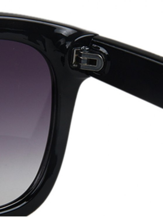 Letter T Bright Black Square Sunglasses - BLACK  Mobile