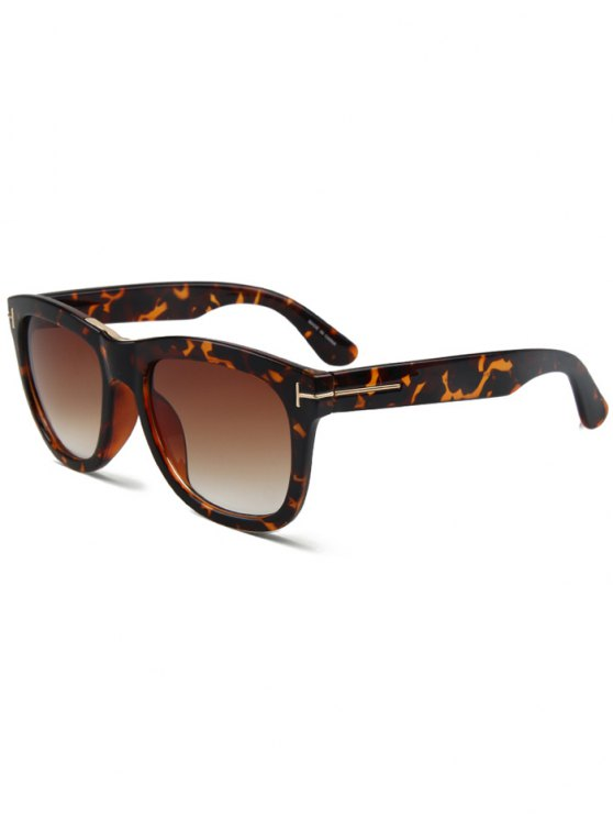 best Letter T Square Leopard Sunglasses - BROWN