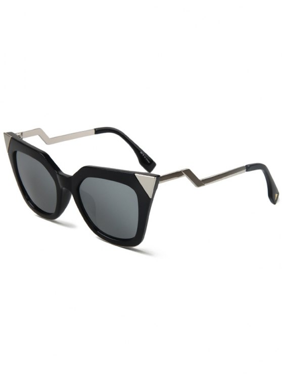 outfit High Pointed Black Cat Eye Sunglasses - SILVER