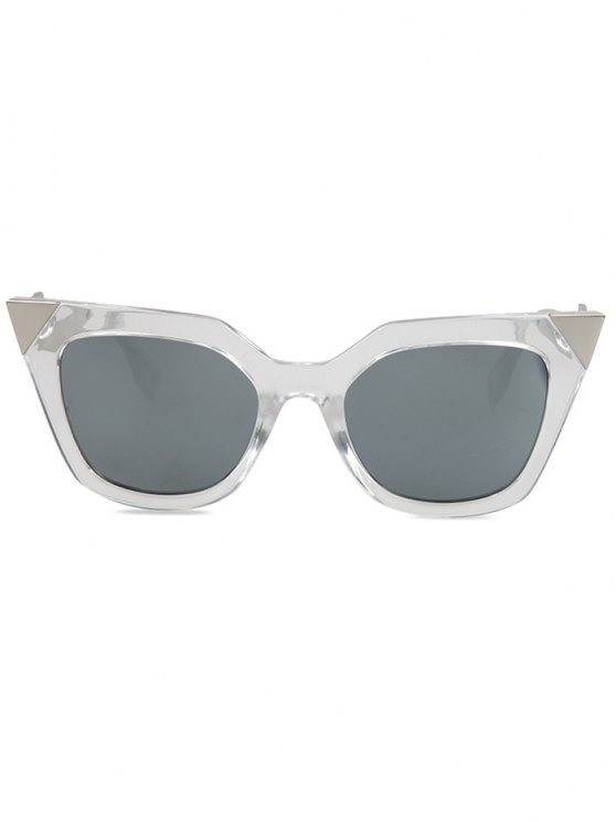 High Pointed Transparent Cat Eye Sunglasses - TRANSPARENT  Mobile