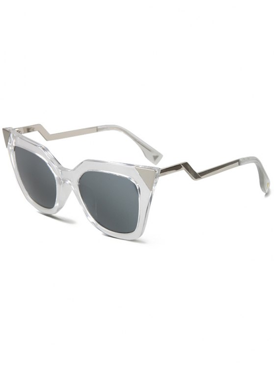 shop High Pointed Transparent Cat Eye Sunglasses - TRANSPARENT