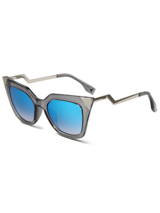 High Pointed Zigzag Leg Cat Eye Sunglasses - TRANSPARENT GRAY  Mobile