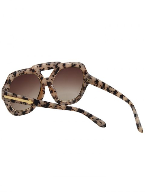 womens Arrow Double Rim Black Fleck Sunglasses - OFF-WHITE  Mobile
