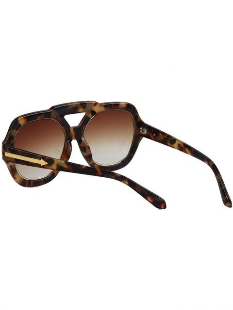 women Arrow Double Rim Hazy Fleck Sunglasses - BROWN  Mobile