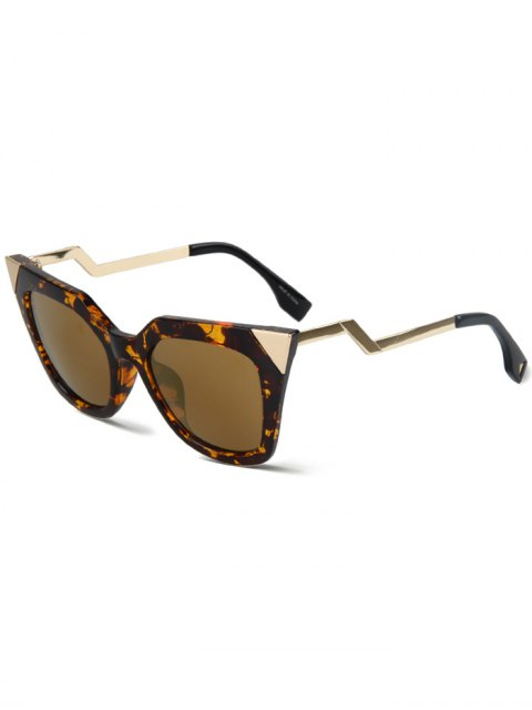 trendy High Pointed Amber Match Cat Eye Sunglasses - AMBER  Mobile