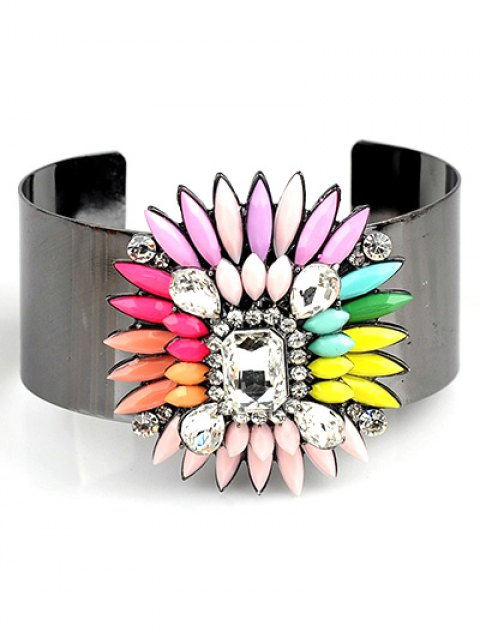outfits Bohemian Flower Jewelry Cuff Bracelet - PINK  Mobile