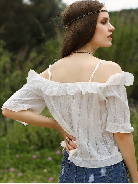 women Lace Patchwork White Top - WHITE ONE SIZE(FIT SIZE XS TO M) Mobile