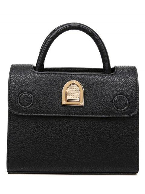 best Metal Solid Color Cover Tote Bag - BLACK  Mobile