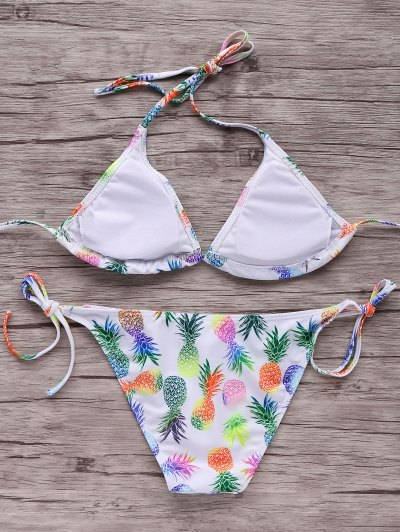 Pineapple Printed Halter Bikini Set от Zaful.com INT