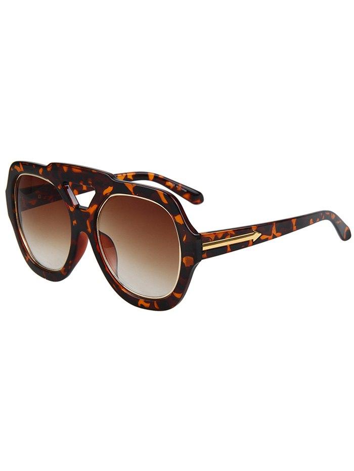 Arrow Double Rim Leopard Sunglasses
