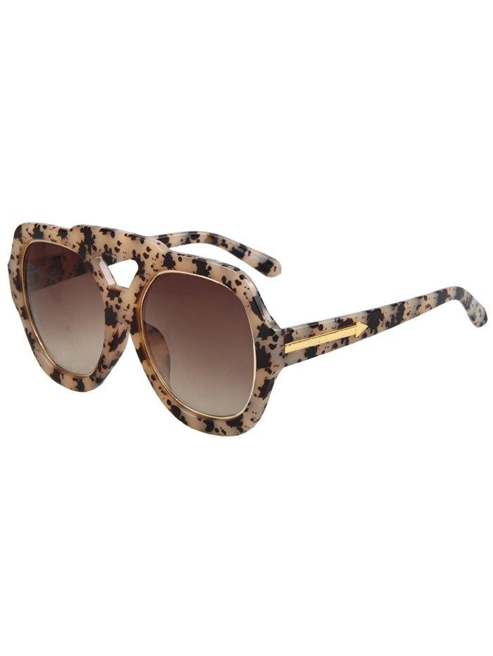Arrow Double Rim Black Fleck Sunglasses