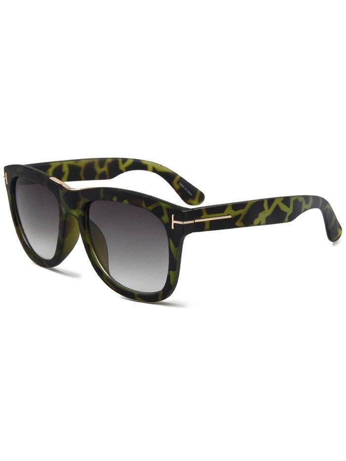 Letter T Square Leopard Sunglasses