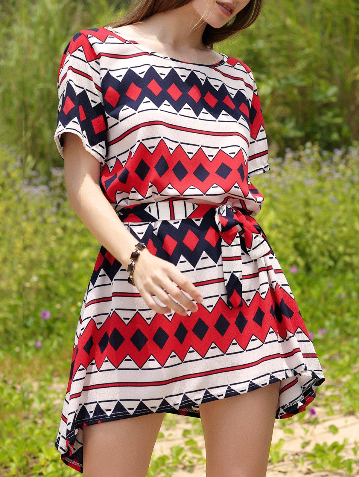 Slash Neck Straight DressClothes<br><br><br>Size: M<br>Color: RED