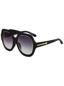 Arrow Double Rim Matte Black Sunglasses