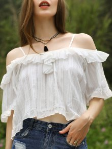 Lace Patchwork White Top