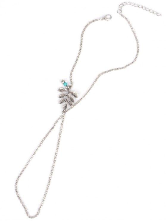 Carving Leaf Bead Toe Ring Anklet -   Mobile