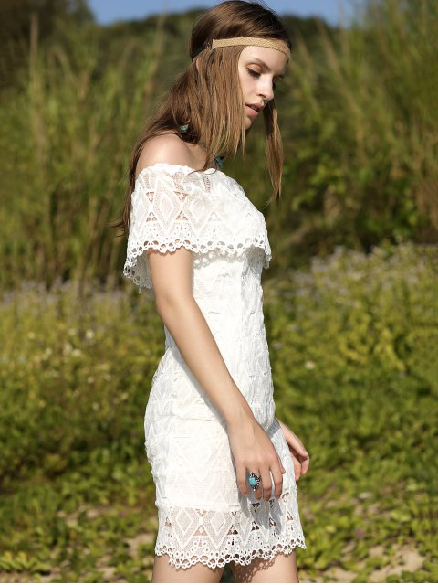 new Off-The-Shoulder Lace Dress - WHITE M Mobile