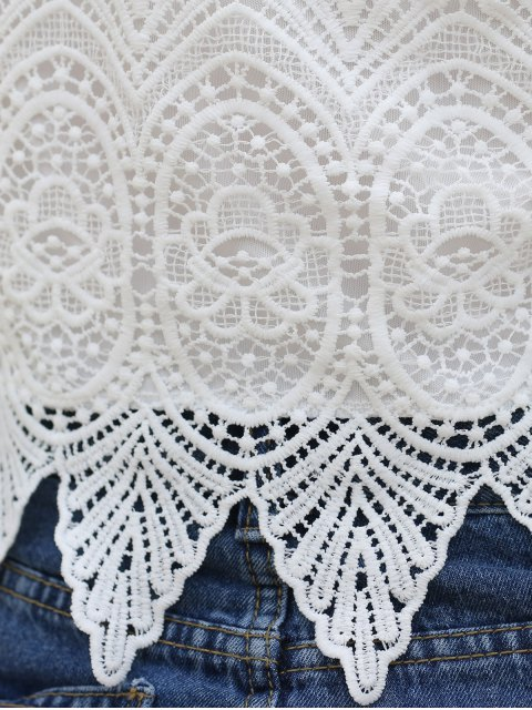 best Off-The-Shoulder Lace Top - WHITE S Mobile