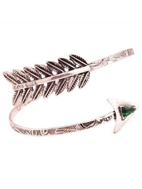 shops Faux Gem Cupid Arrow Bracelet - SILVER  Mobile
