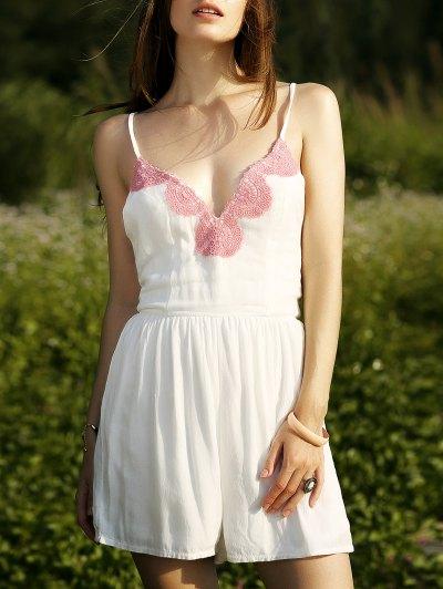 White Cami Romper - White