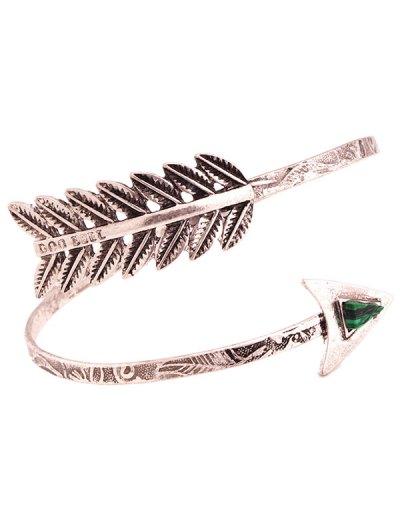 Faux Gem Cupid Arrow Bracelet - SILVER  Mobile