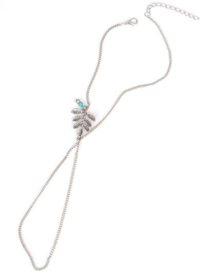 Carving Leaf Bead Anklet - SILVER  Mobile