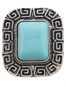 Faux Turquoise Square Shape Ring