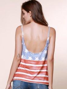 Spaghetti Straps American Flag Tops