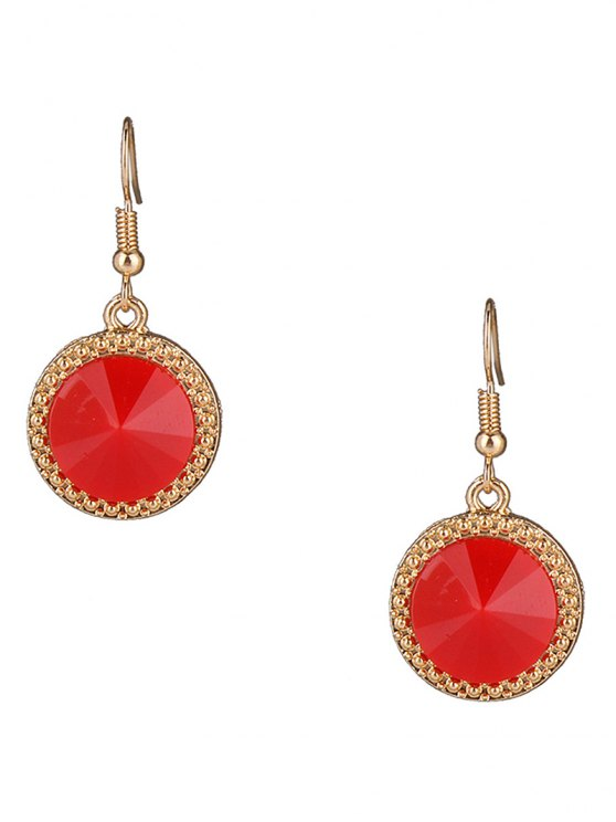 Faux Gem Rhinestone Round Necklace and Earrings - COLORMIX  Mobile