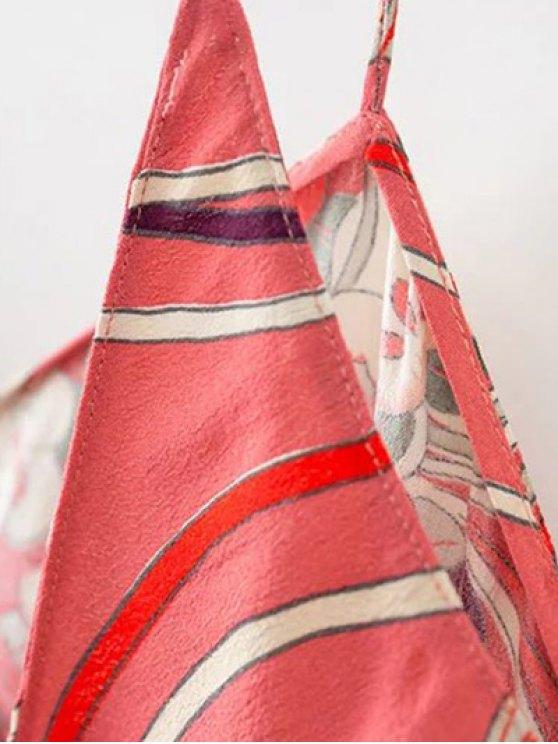Floral Cami Open Back Dress - COLORMIX M Mobile
