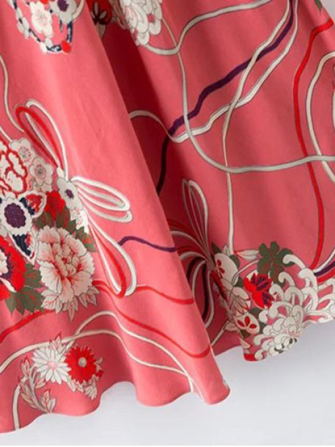 online Floral Cami Open Back Dress - COLORMIX M Mobile