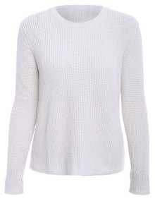 Solid Color Long Sleeve Knitwear