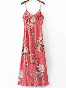 Floral Cami Open Back Dress