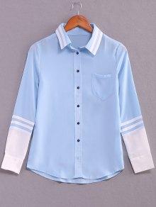 Striped Color Block Long Sleeve Shirt