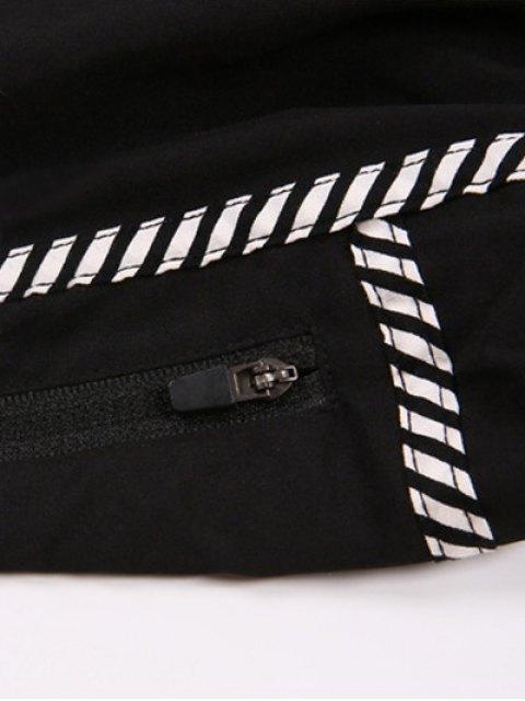 sale Floral Print Sport Shorts - BLACK M Mobile