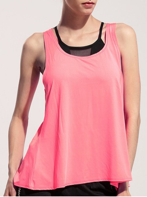 new Back Slit Relaxed Tank Top - PINK M Mobile